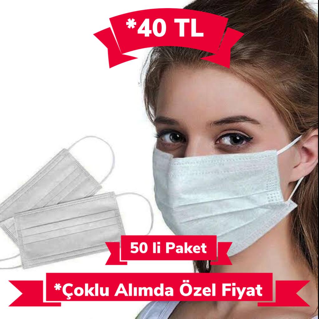 3 Katlı, Telli maske, 50 Adet, Cerrahi Maske, Özellikleri, Maske Fiyatı, En Ucuz 3 Katlı Telli maske, 50 Adet Cerrahi Maske Fiyat, avantajları ve indirimli